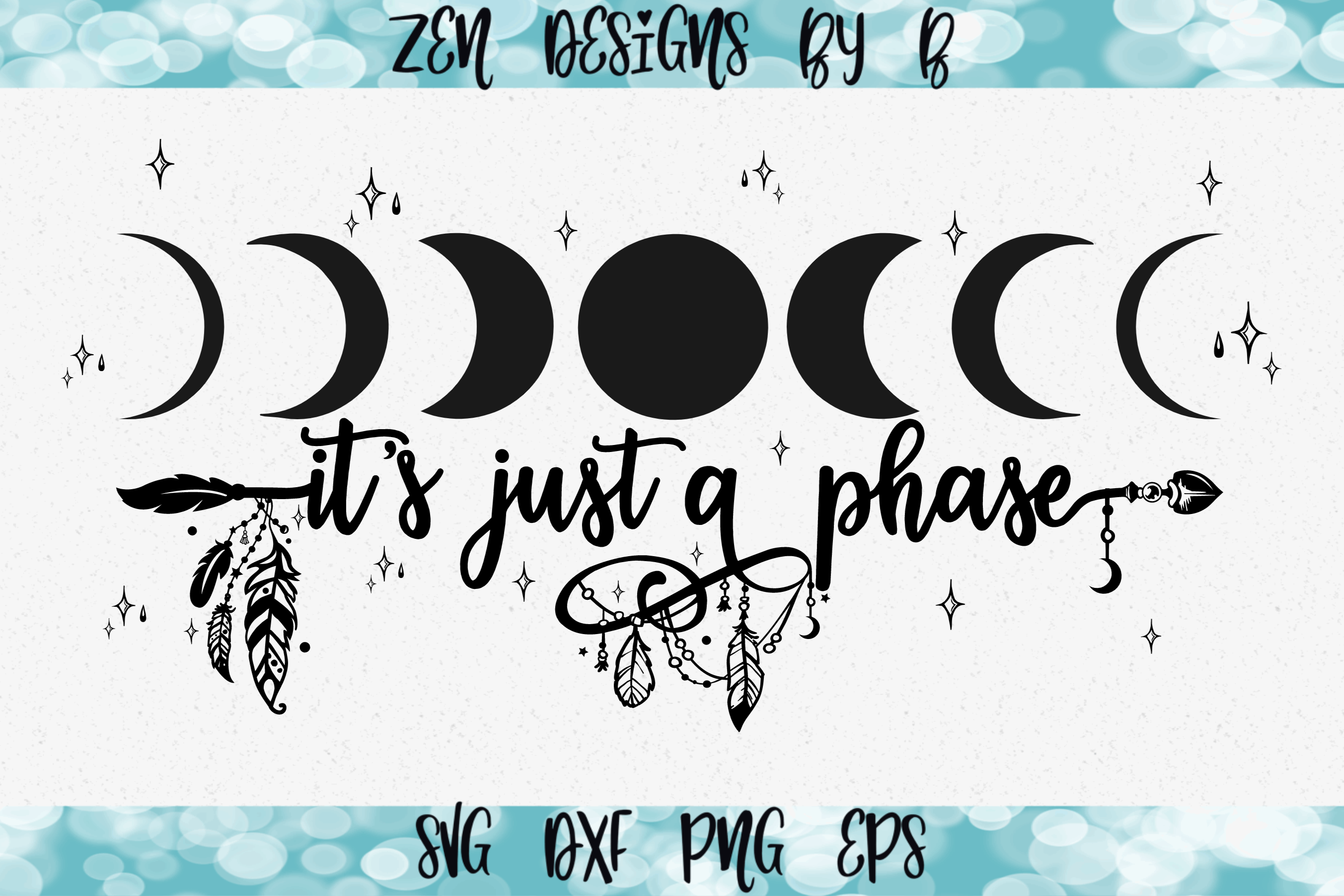 It's Just a Phase Moon Phase Graphic SVG File