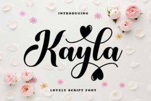 Print on Demand: Kayla Script & Handwritten Font By Ws Studio