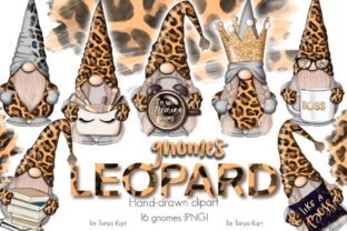 Leopard Gnomes Clip Art Graphic Illustrations By Tanya Kart