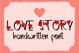 Print on Demand: Love Story Script & Handwritten Font By Creative Zone