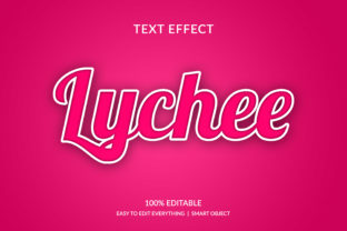 Lychee 3d Fruit Color Style Text Effect Graphic Layer Styles By grgroup03