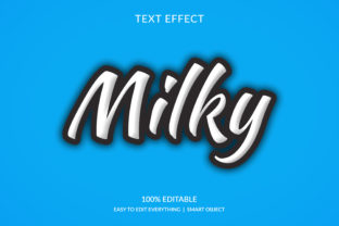 Milky 3d White Black Stroke Text Effect Graphic Layer Styles By grgroup03