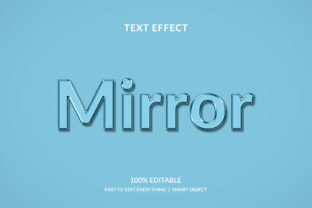 Mirror 3d Glass Water Style Text Effect Graphic Layer Styles By grgroup03