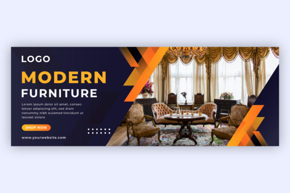 Modern Furniture Facebook Cover Template Graphic Print Templates By ui.sahirsulaiman