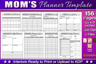 Mom's Planner Template Graphic KDP Interiors By okdecoconcept