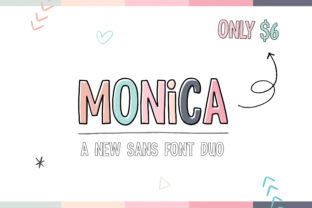 Print on Demand: Monica Display Schriftarten von Salt & Pepper Designs