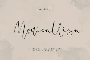 Print on Demand: Monicallisa Script & Handwritten Font By Maulana Creative