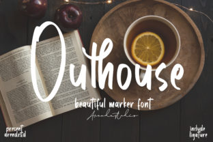 Print on Demand: Outhouse Script & Handwritten Font By Arendxstudio