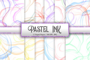 Pastel Ink Background Digital Papers Graphic Backgrounds By PinkPearly