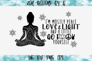 Peace Love and Light Graphic Graphic Crafts By ZenDesignsByB