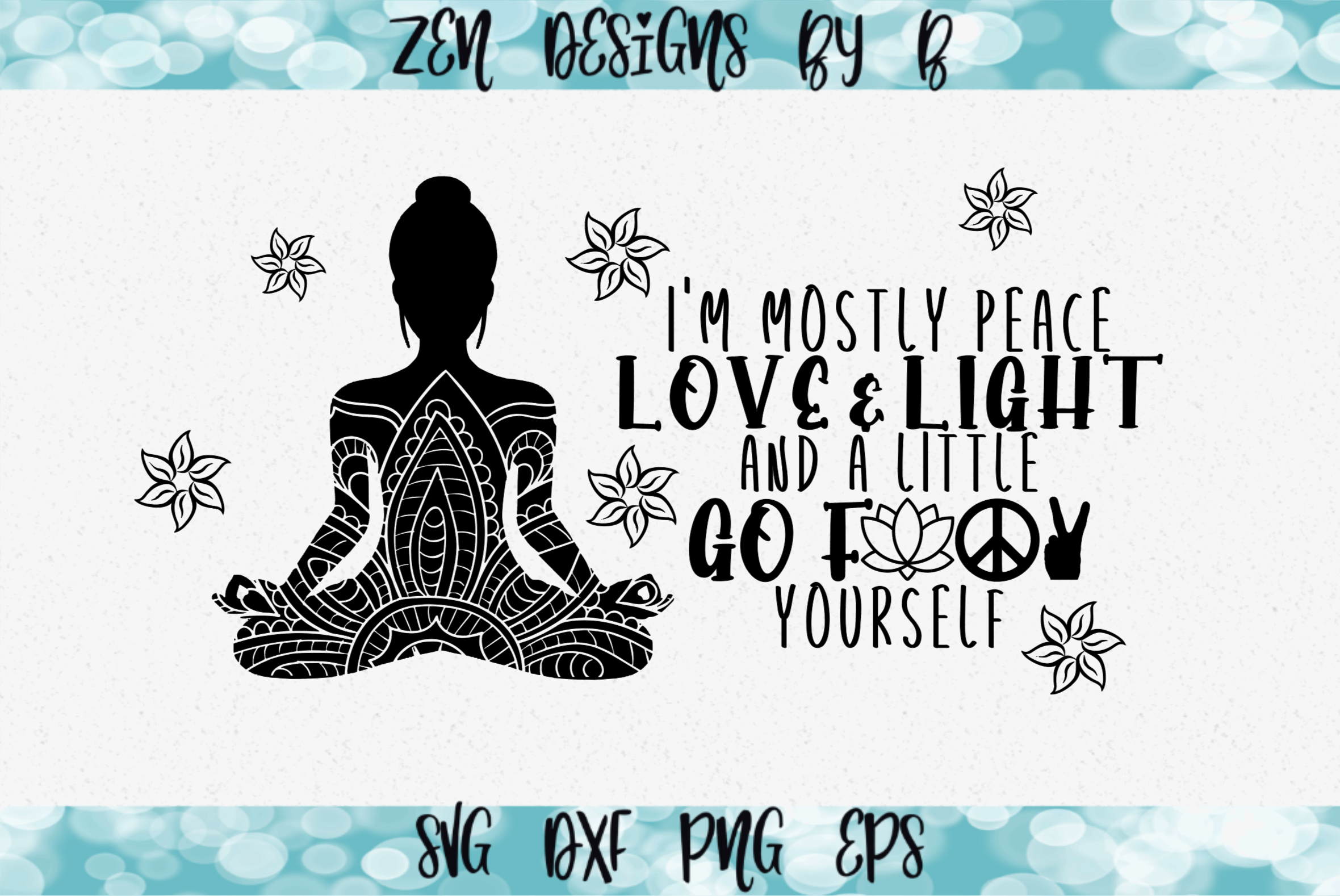Peace Love and Light Graphic SVG File