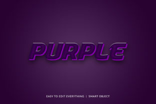 Purple 3d Matching Color Text Effect Graphic Layer Styles By grgroup03