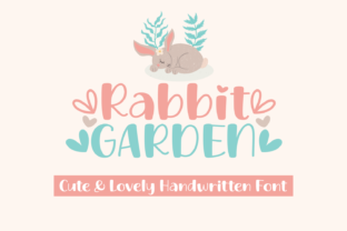 Print on Demand: Rabbit Garden Script & Handwritten Font By Jasm (7NTypes)