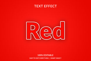 Red 3d Text Effect Graphic Layer Styles By grgroup03