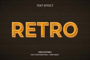 Print on Demand: Retro 3d Style Text Effect Graphic Layer Styles By grgroup03