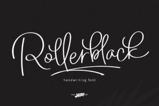 Print on Demand: Rollerblack Script & Handwritten Font By HIRO.std