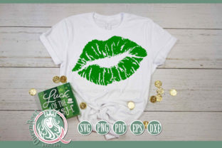 Green Lips Graphic Illustrations By QueenBrat Digital Designs