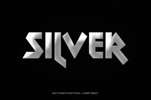 Silver Metal Steel Color 3d Text Effect Graphic Layer Styles By grgroup03