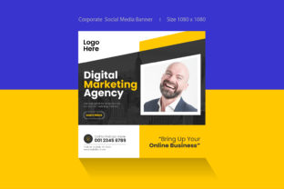 Social Media Banner Post Template Graphic Web Elements By Shajibh869