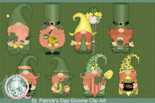St. Patrick's Day Gnomes Clip Art Bundle Graphic Illustrations By QueenBrat Digital Designs