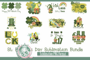St Patrick's Day Sublimation Bundle Graphic Illustrations By QueenBrat Digital Designs