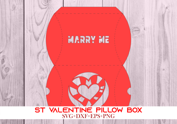 Print on Demand: St Valentine Pillow Box 064 Series 7 Graphic 3D Pillow Box By Cerescrafts