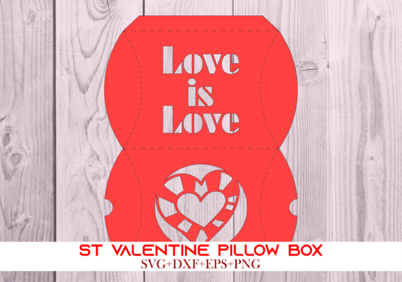 Print on Demand: St Valentine Pillow Box 065 Series 7 Graphic 3D Pillow Box By Cerescrafts