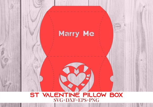 Print on Demand: St Valentine Pillow Box 066 Series 7 Graphic 3D Pillow Box By Cerescrafts