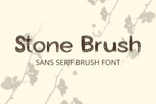 Print on Demand: Stone Brush Display Font By Creative Zone