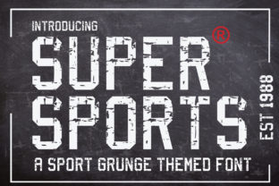 Print on Demand: Supersports Display Font By KtwoP