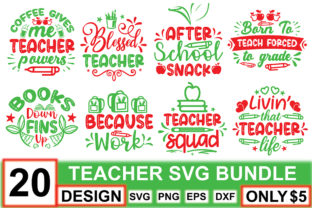 Teacher SVG Bundle  By crafthome
