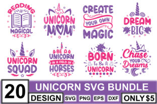 Unicorn SVG Bundle  By crafthome
