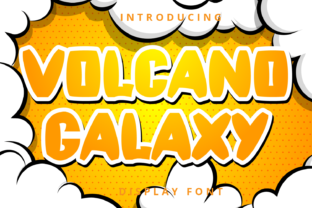 Print on Demand: Volcano Galaxy Display Font By Planetz studio