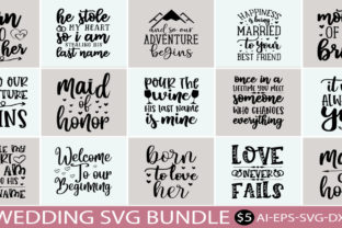 Print on Demand: Wedding Design SVG Bundle  By BDB_Graphics