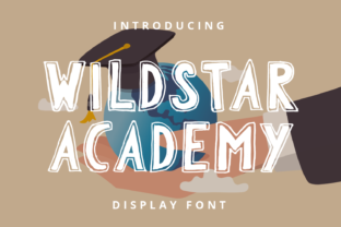 Print on Demand: Wildstar Academy Display Font By Planetz studio