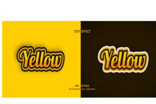 Yellow 3d Both Color Style Text Effect Graphic Layer Styles By grgroup03