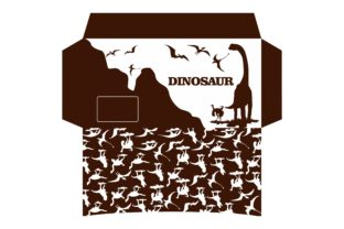 Print on Demand: Dinosaur Theme Envelope Design Graphic Crafts By Arief Sapta Adjie