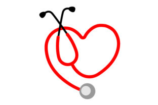 Stethoscope Heart Designs & Drawings Craft Cut File By Creative Fabrica Crafts