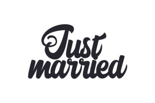 Just Married Quotes Craft Cut File By Creative Fabrica Crafts
