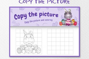 A Cute Hippo Easter - Copy the Picture Graphic 10th grade By wijayariko