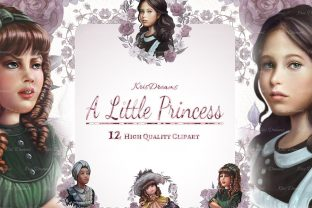 A Little Princess Clip Art Graphic Illustrations By KrisDreams Illustrations