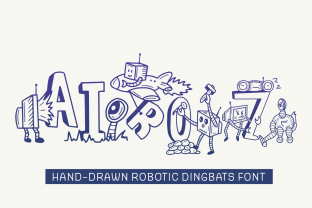 Print on Demand: Airoz Dingbats Font By Dito (7NTypes)