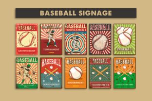 Baseball Vintage Signage Poster Graphic Illustrations By zullfikarilyas