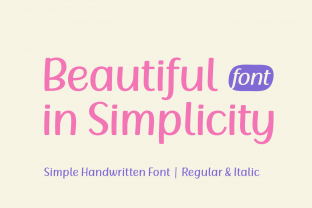 Print on Demand: Beautiful in Simplicity Script & Handwritten Font By Rizkky (7NTyoes)