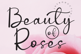Print on Demand: Beauty of Roses Script & Handwritten Font By Roronoa zoro.S.P.D