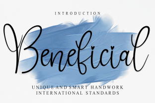 Print on Demand: Beneficial Script & Handwritten Font By Roronoa zoro.S.P.D