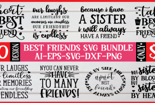 Print on Demand: Best Friends SVG Bundle  By BDB_Graphics