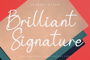 Print on Demand: Brilliant Signature Script & Handwritten Font By Roronoa zoro.S.P.D