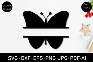 Butterfly Monogram Graphic Crafts By Rizu Designs