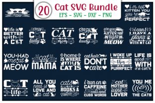 Print on Demand: Cat Quotes Design Bundle Graphic Print Templates By GraphicsBooth